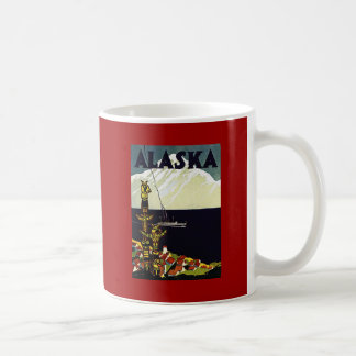 poster de Alaska del vintage Taza Básica Blanca