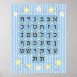 Poster de Alef Beis (azul claro)