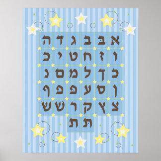 Poster de Alef Beis azul claro