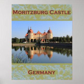 Poster de Alemania del castillo de Moritzburg