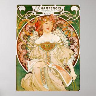 Poster de Alfonso (Alfonso) Mucha:  Champenois