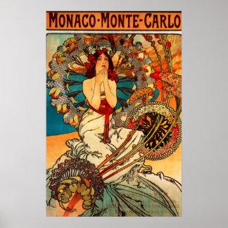 Poster de Alfonso Mucha Monte Carlo Póster