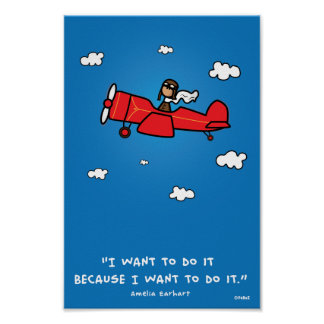 Poster de Amelia Earhart 8x12 (y el mismo coeficie