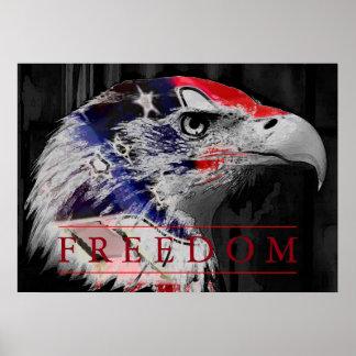 Poster de American Eagle de la libertad de la