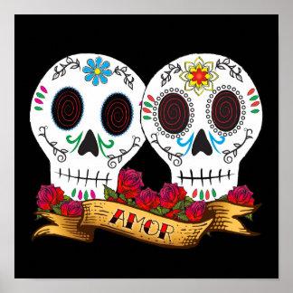 """Poster de """"Amor"""" de los cráneos del amor"""