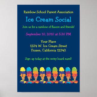 Poster de Annoucement del fiesta del helado