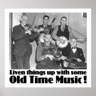 Poster de antaño de la música