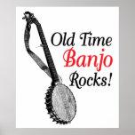 Poster de antaño del banjo