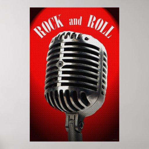 Poster de antaño del rock-and-roll 36 x 24