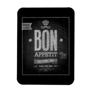 Poster de Appetit del Bon del vintage - pizarra Imán Rectangular