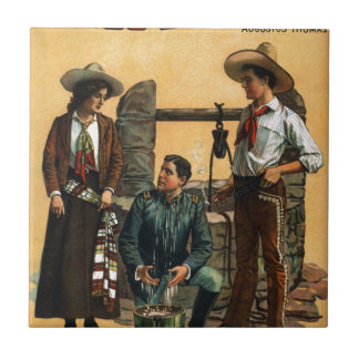Poster de Arizona del vintage Azulejo Cuadrado Pequeño