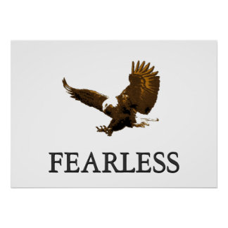 Poster de aterrizaje audaz de motivación de Eagle