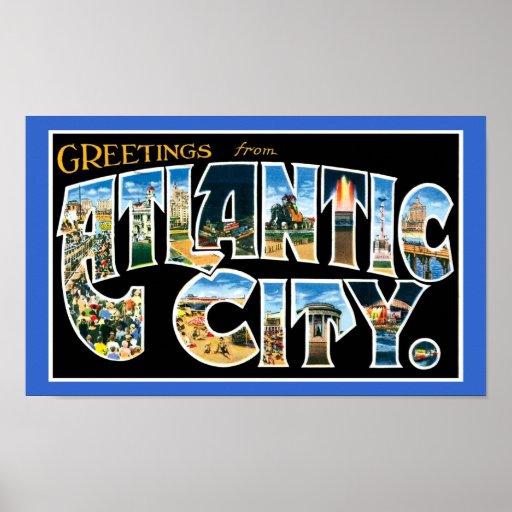poster de Atlantic City del vintage