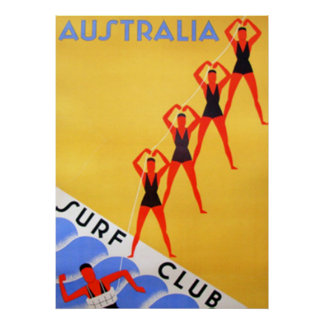 Poster de Australia del vintage del viaje Póster