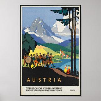 Poster de Austria del vintage