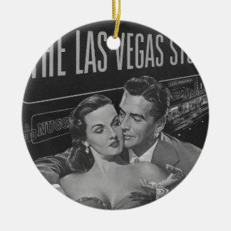 Poster de B&W Las Vegas Adorno Navideño Redondo De Cerámica