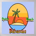 Poster de Bahamas de las vacaciones de primavera