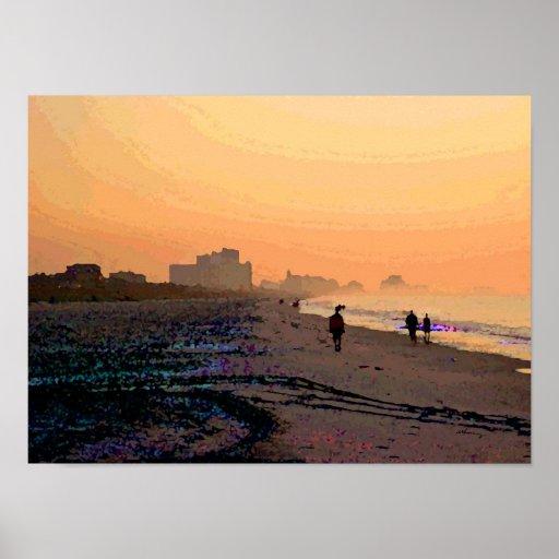 Poster de Beachwalk de la mañana