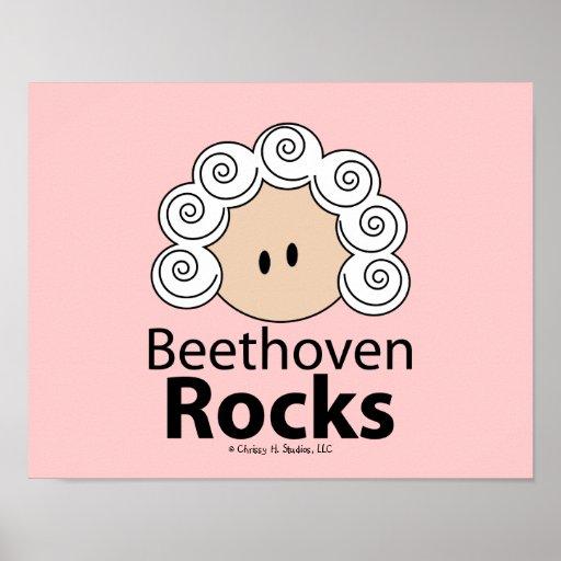 Poster de Beethoven de las rocas de Beethoven