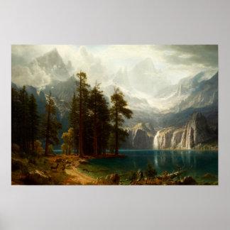 Poster de Bierstadt Sierra Nevadas