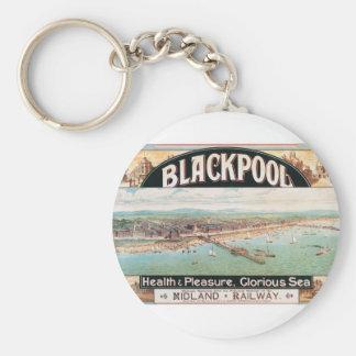 Poster de Blackpool de la visita Llavero Redondo Tipo Pin