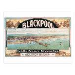 Poster de Blackpool de la visita Tarjeta Postal