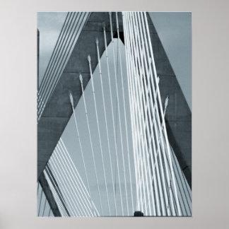 Poster de Boston del puente de Zakim