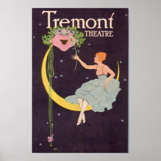 Poster de Boston Massachusetts del teatro de Tremo