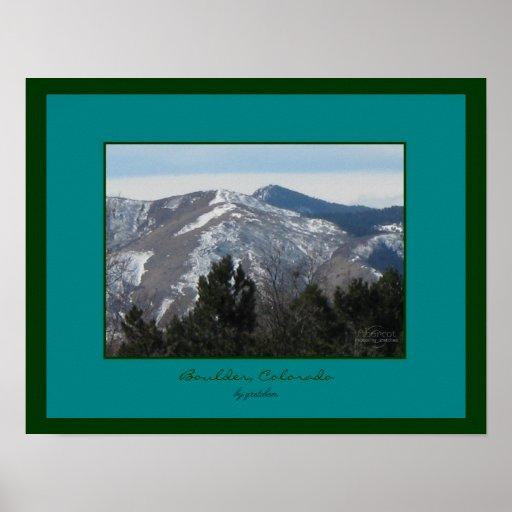 Poster de Boulder, Colorado Front Range