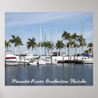 Poster de Bradenton FL del río del Manatee