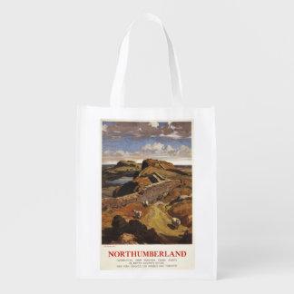Poster de British Rail de la pared y de las ovejas Bolsas Reutilizables