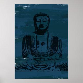 Poster de Buda del Grunge - trullo oscuro
