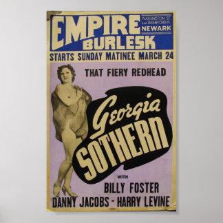 Poster de Burlesk Georgia Sothern del imperio