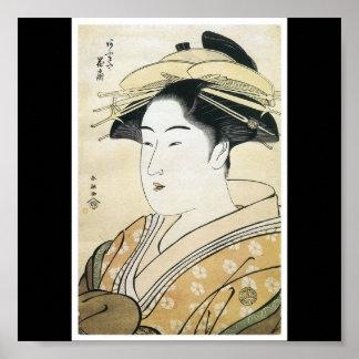 Poster de C. de pintura japonesa 1790