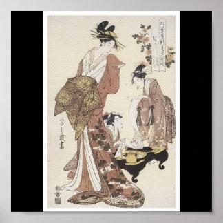 Poster de C. de pintura japonesa 1795