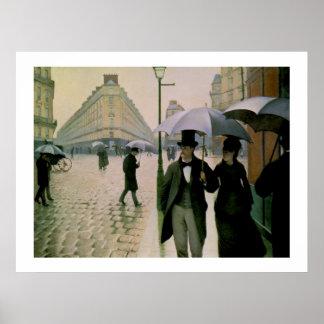 Poster de Caillebotte de la calle de París
