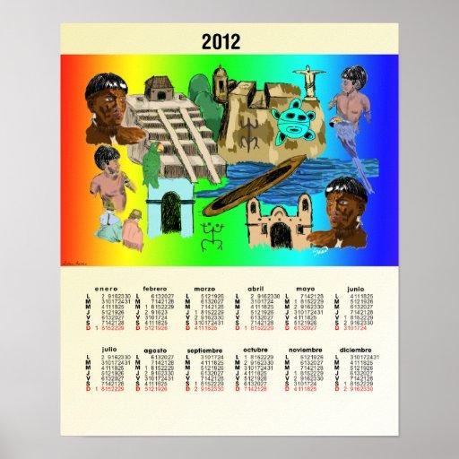 Poster de Calendario América Latina