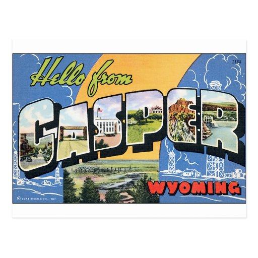 Poster de Casper Wyoming Tarjetas Postales