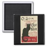 Poster de Ce Soir Le Chat Noir del vintage Imán De Nevera