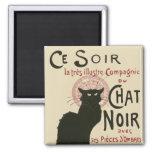 Poster de Ce Soir Le Chat Noir del vintage Imanes