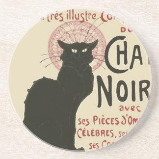 Poster de Ce Soir Le Chat Noir del vintage Posavaso Para Bebida