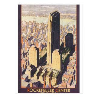 Poster de centro del viaje del vintage de postal