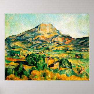Poster de Cezanne Mont Sainte-Victoire