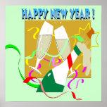 Poster de Champán de la Feliz Año Nuevo
