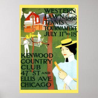 Poster de Chicago de la reproducción del vintage