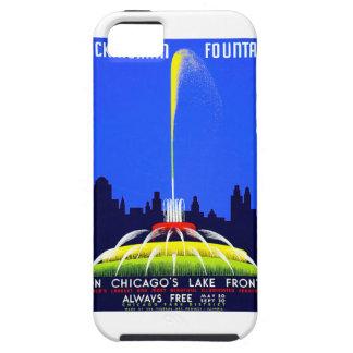 Poster de Chicago WPA de la fuente de Buckingham iPhone 5 Carcasa