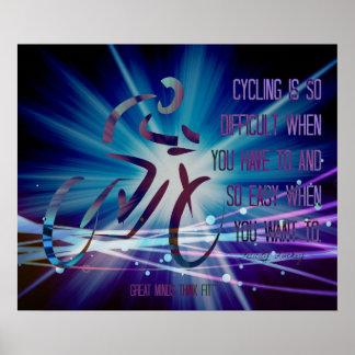 Poster de ciclo inspirado en azul y púrpura