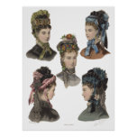 Poster de cinco bellezas del Victorian