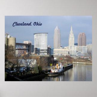 Poster de Cleveland OH opinión del río