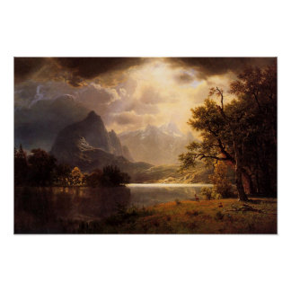Poster de Colorado del parque de Bierstadt Estes